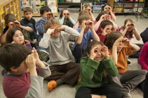 Kids gesturing